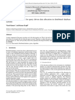 An Improved Algorithm for Query Driven Data Allocation in Distributed Database Systems