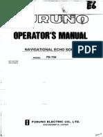 Navigational Echo Sounder FE-700