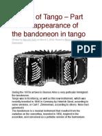 History of Tango