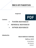 Natural Resources of Pakistan -  Economy of Pakistan