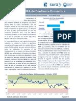 Indice Confianza Consumidor Octubre 2018