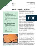 RT Duroid 6002 Laminate Data Sheet