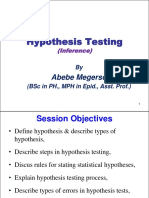 3. Hypothesis Testing