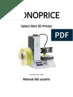 Manual de Usuario Impresora 3D MONOPRIDE