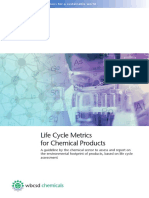 Chemical Sector Life Cycle Metrics Guidance