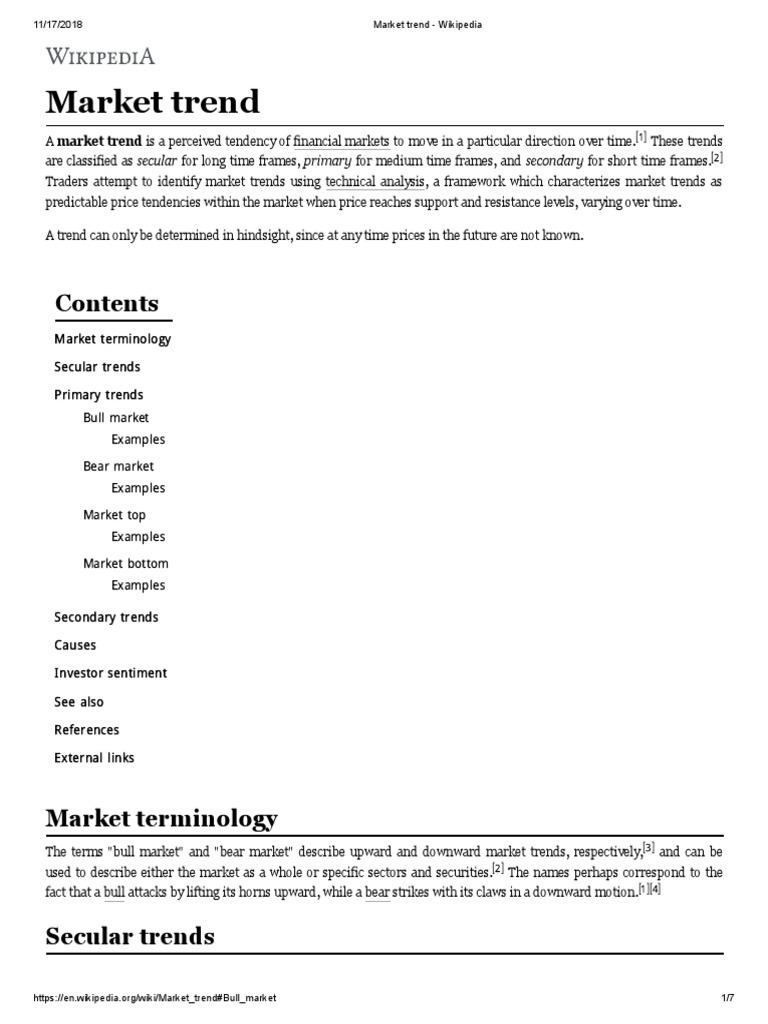 Market Trend - Wikipedia | Market Trend | Equity Securities