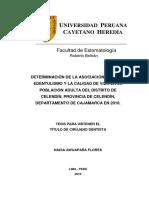 determinacion de la asociacion entre el edentulismo y la calidad de vida..pdf