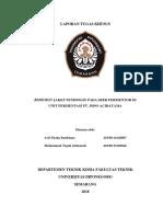 Tugas Khusus PT Indo Acidatama (Redesain Jaket Pendingin)