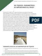 Geotextiles No Tejidos. Parametros Relevantes ¿Es Importante El Peso_ _ Geotexan