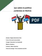 Ensayo Sobre La Política Costumbrista en Bolivia