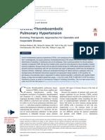hipertension  pulmonar tromboembolica cronica ACC