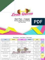 Diet Plan - 2 Weeks