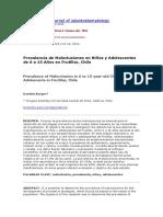 BURGOSprevalencia de Maloclusiones en Niños y Adolescentes de 6 a 15 Años Chile 2014