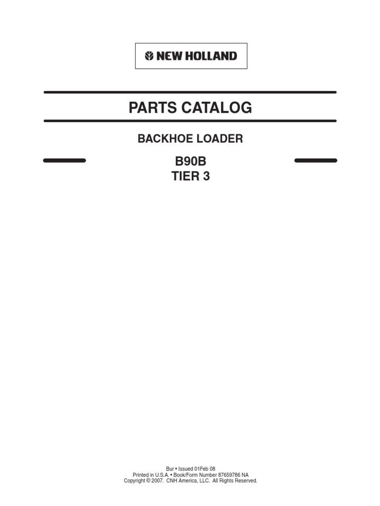 New Holland - B90B LOADER BACKHOE PARTS MANUAL pdf