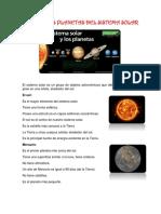 El Sol y Los Planetas Del Sistema Solar