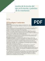 Integración de La Teoría Del Aprendizaje en La Teoría y Práctica de La