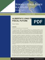 ALBERTA'S LONG-TERM FISCAL FUTURE
