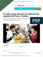 El Mejor Cacao Peruano Se Cultiva en Las Regiones de Piura y Tumbes _ LaRepublica