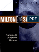 Milton Santos. Manual de Geografía Urbana - Cap. 2
