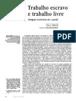 TOMICH, Dale - Trabalho escravo e trabalho livre.pdf