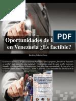 Ibrahim Velutini Sosa - Oportunidades de Inversión en Venezuela, ¿Es Factible?