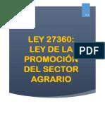 Monografia Ley de Promocion Del Sector Agrario