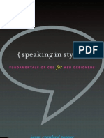 Speaking in Styles - Fundamentals of CSS for Web Designers