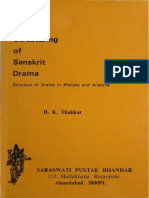 On the Structuring of Sanskrit Drama - Structure of Dramma in Bharata and Aristotle