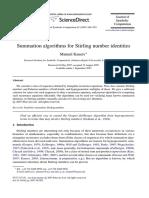 Journal of Symbolic Computation Volume 42 Issue 10 2007 [Doi 10.1016%2Fj.jsc.2007.08.002] Manuel Kauers -- Summation Algorithms for Stirling Number Identities