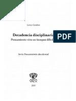 Gordon Lewis - Decadencia Disciplinaria