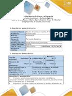Paso 3- Diseñar Una Propuesta de Acción Psicosocial.