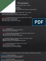 Presentacion WH questions en ingles