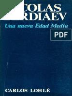 Nicolas Berdaiev Nueva Edad Media
