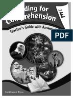 Reading for Comprehension TG Level E