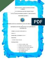 Determinacion de Cloruros en Aguas de Riego y Subterraneo