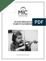 Suzuki Program Parent Handbook (Revised 2013)