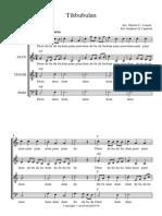 Tikbubulan - Full Score