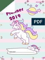 Planner Unicórnio 2019
