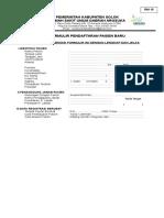 Form Pendaftaran Pasien Baru ( 1 Rim )