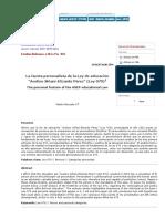 Estudios Bolivianos - La faceta personalista de la Ley de educación _Avelino Siñani-Elizardo Pérez_ (Ley 070)¹