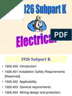 026 OSHA Electrical