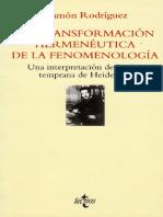 La Transformacion Hermeneutica de La Fenomenologia