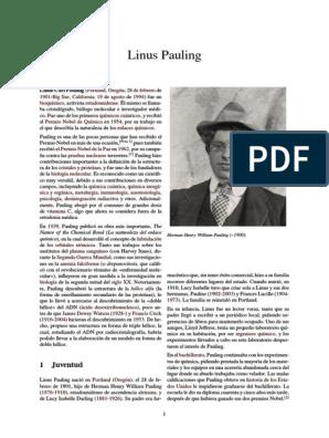Linus Pauling Francis Crick Enlace Químico