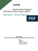 [White Paper] Economic Transformation Program (ETP) Entry Point Project (EPP) 2 (2011)