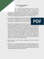 Special Proceedings Quiz No. 1
