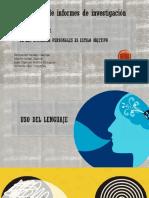 Redaccion de Uso de Lengua y de Las Opiniones Personales Es Estilo Objetivo