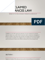 Unclaimed Balances Law