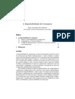 [GAMEIRO, Paulo Alexandre Dias] a Improbabilidade de Comunicar