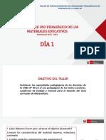Presentación de Materiales Educativos MATEMÁTICA_día 1