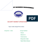 Security Market Operations Credit Rating